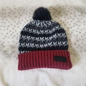 Nike Black Maroon Women's Knit Beanie